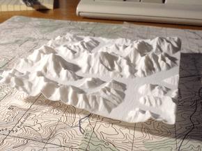 4''/10cm Baltoro Glacier and K2, WSF in White Natural Versatile Plastic