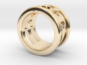 Cathedral Ring in 14k Gold Plated Brass: 5.5 / 50.25