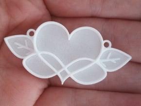 Love Blooms Infinite - Pendant in White Natural Versatile Plastic: Medium