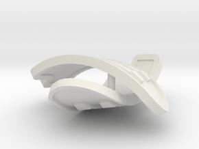 1:6 scale rib armor pair in White Natural Versatile Plastic