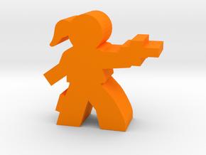 Game Piece, Space Outlaw Gal in Orange Processed Versatile Plastic
