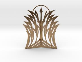 Poseidon Pendant in Natural Brass