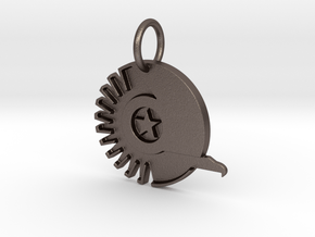 New Conglomerate Keychain in Polished Bronzed Silver Steel