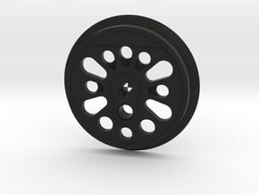 XXL Boxpok Flanged Driver with Traction Groove in Black Natural Versatile Plastic