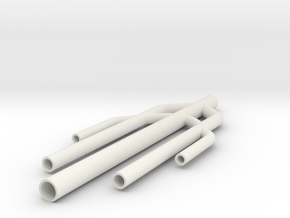 Trident Whole Body in White Natural Versatile Plastic