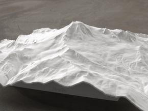 8'' Mt. Baker, Washington, USA, WSF in White Natural Versatile Plastic