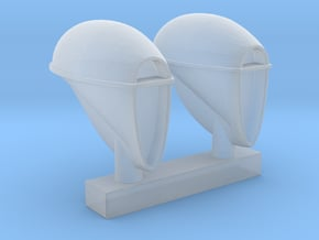Woodlite Inspired Headlights 1:24-1:25 scale  in Smooth Fine Detail Plastic