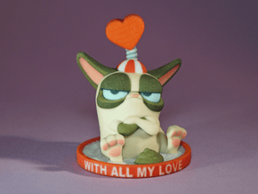 My Grumpy Valentine in Full Color Sandstone