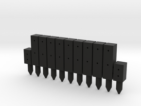 BP1-11, Square Cable Barrier Posts, 11 pcs in Black Natural Versatile Plastic