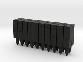 BP1-20, Square Cable Barrier Posts, 20 pcs in Black Natural Versatile Plastic