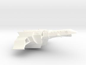 Spaceship in White Processed Versatile Plastic