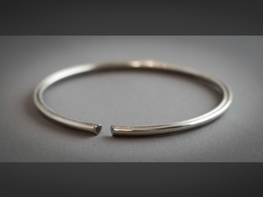 Secret Heart Introvert Bangle in Polished Silver