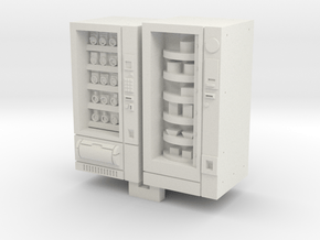 N Gauge Snack And Food Vending Machine in White Natural Versatile Plastic