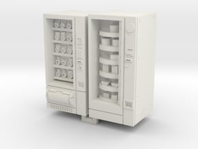 HO/OO Gauge Snack And Food Vending Machine in White Natural Versatile Plastic