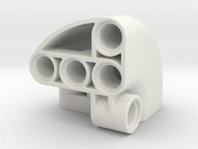 Panel corner in White Natural Versatile Plastic