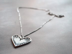 Heart Strings in Polished Silver