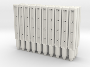 BP3-30, Wire-Rope Safety Barrier Posts in White Natural Versatile Plastic