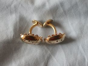 Beetle Cufflinks (2.5 cm) in Natural Brass