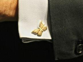Butterfly Cufflinks 1 in Polished Brass