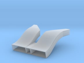 Toyota Eagle MkIII Radiator Inlet Ducts, 1/24 in Smooth Fine Detail Plastic