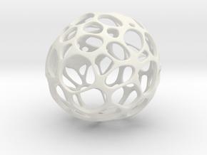 GeoApple  in White Natural Versatile Plastic