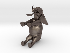 3D Africa Elephant in Polished Bronzed Silver Steel