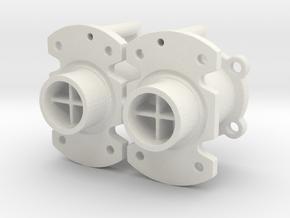 Spare Nozzles in White Natural Versatile Plastic