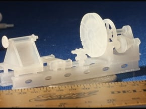 Wheel Lathe HO Scale Narrow Scale 1/87 in Smooth Fine Detail Plastic