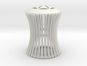 Torus Dome lamp  in White Natural Versatile Plastic