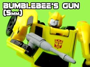 Bumblebee's Gun (MTMTE), 5mm in White Natural Versatile Plastic