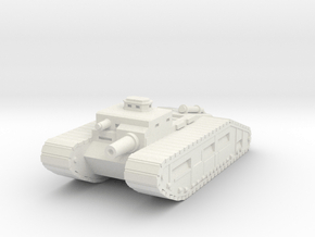 Infantry Support Tank in White Natural Versatile Plastic