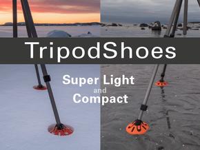 TripodShoes in Orange Processed Versatile Plastic