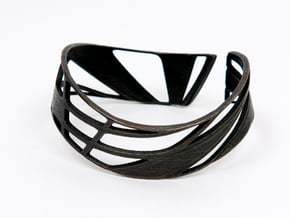 Triangulation Bracelet in Matte Black Steel