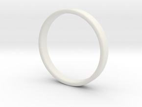 Simple band - size 9 US / 189 mm EU in White Natural Versatile Plastic: 9 / 59