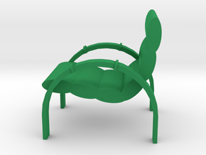 Lawn Chair for the Patio, Retro Style in Green Processed Versatile Plastic