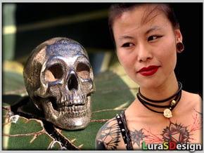 Human Skull Pendant - Skull Bead in White Natural Versatile Plastic