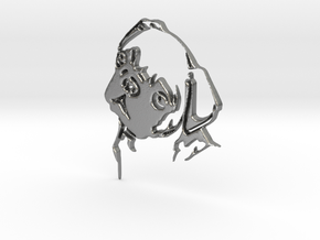 Mops Head in Natural Silver
