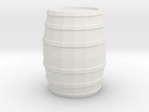 Printle Thing Barrel (little) - 1/24 in White Natural Versatile Plastic