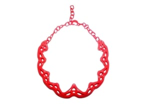 FutureFlower Necklace in Red Processed Versatile Plastic