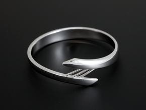 Bridge Bracelet in Rhodium Plated Brass: Small