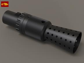 TFA Flash Hider & Bull Barrel w/ sight in Black Natural Versatile Plastic