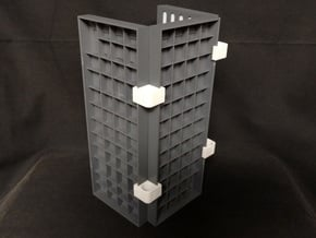 PRHI Space Walls Connector Type D 4x in White Natural Versatile Plastic