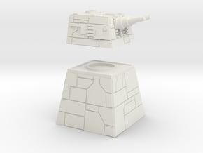 XX-9 Turbolaser  in White Natural Versatile Plastic