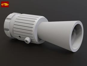 ROTJ Flash Hider (Standard Version NOCUT barrel) in White Processed Versatile Plastic