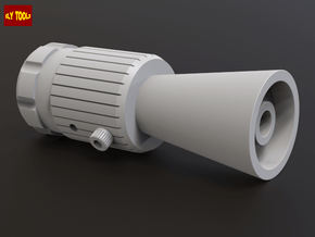 ROTJ Flash Hider (Standard Version CUT barrel) in White Processed Versatile Plastic