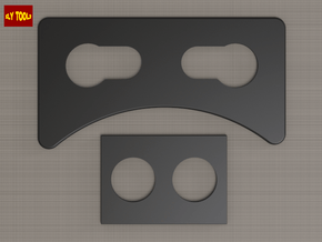 ROTJ Greeblies - Frame Rounded Shapes in Black Natural Versatile Plastic
