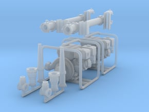 1/16 scale capped pump & ladder monitors in Smooth Fine Detail Plastic