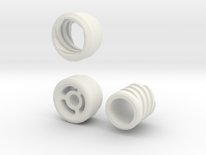 Mock Suppressor Cap in White Natural Versatile Plastic