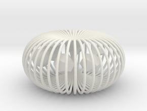 Torus platonic solids in White Natural Versatile Plastic