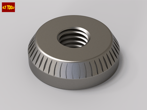 ESB Scope Mount Bespin Disk V1 (Threaded) in Polished Bronzed Silver Steel